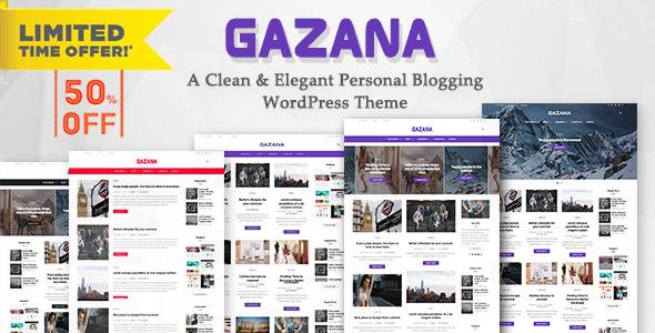قالب Gazana - قالب وبلاگ وردپرس