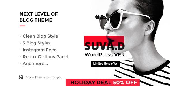 قالب SUVAD - قالب وردپرس بلاگ شخصی