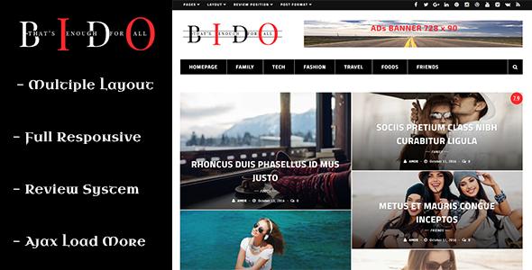 قالب Bido - قالب وردپرس وبلاگ و مجله
