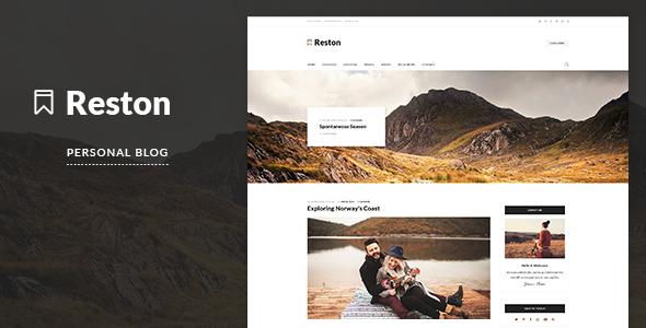 قالب Reston - قالب وبلاگ وردپرس