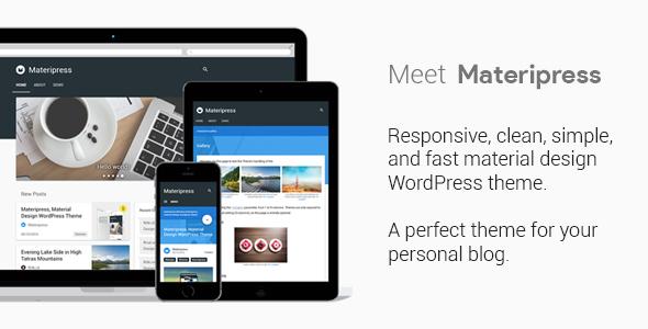 قالب Materipress - قالب وردپرس متریال دیزاین