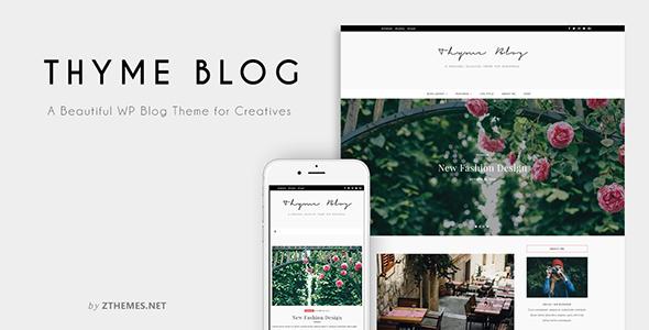 Thyme - قالب وردپرس فروشگاه و وبلاگ