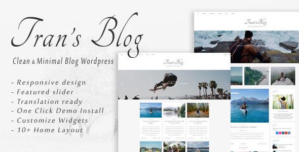 قالب Tran - قالب وردپرس بلاگ مینیمال