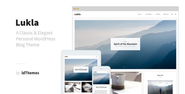 قالب Lukla - قالب وبلاگ وردپرس