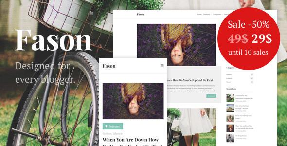 قالب Fason - قالب وردپرس بلاگ مد و سبک زندگی