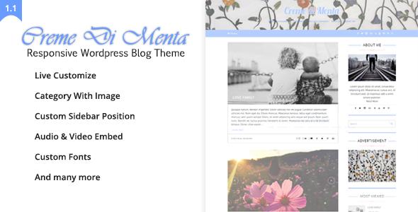Creme Di Menta - قالب وبلاگی وردپرس