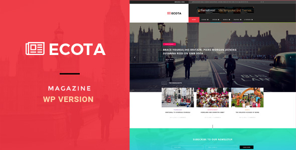 Ecota - قالب وردپرس خبری و مجله
