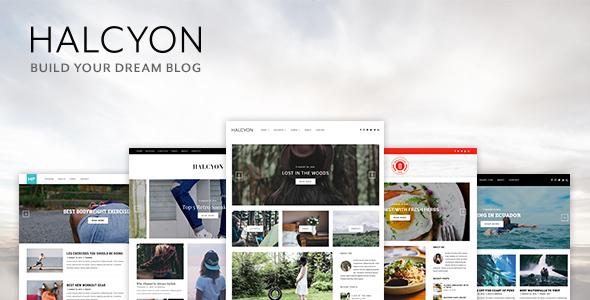 قالب Halcyon - قالب وبلاگی چند منظوره وردپرس