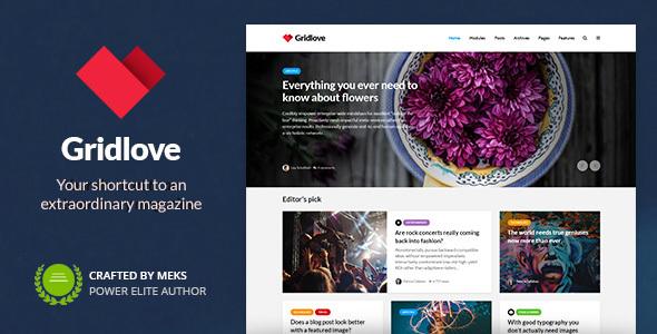 گریدلاو | Gridlove - قالب مجله ای وردپرس