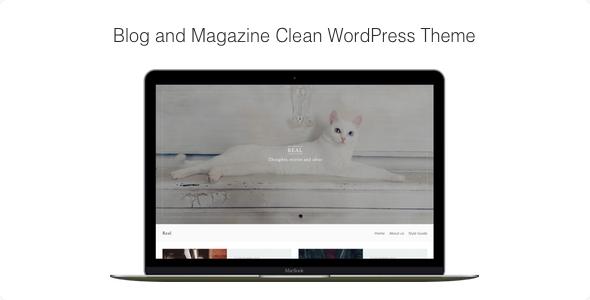 Real - قالب وردپرس مجله