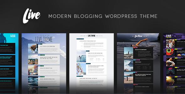 قالب Live - قالب وردپرس وبلاگ