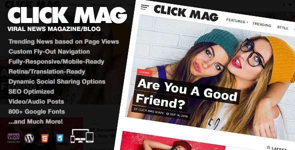 قالب Click Mag - قالب وردپرس مجله خبری