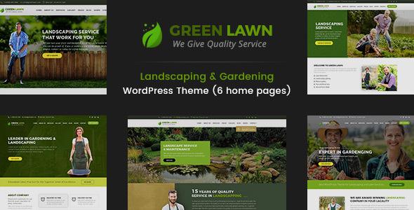 Green Lawn - قالب وردپرس محوطه سازی