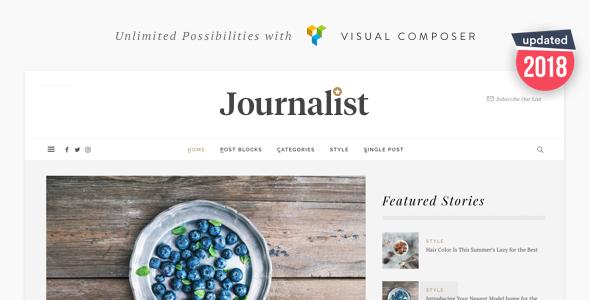 قالب Journalist - قالب وردپرس وبلاگ و مجله