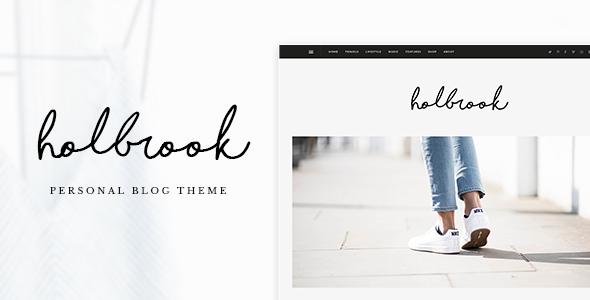 قالب Holbrook - قالب وبلاگ وردپرس شخصی