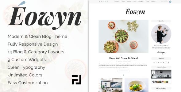 قالب Eowyn - قالب وردپرس بلاگی مینیمال