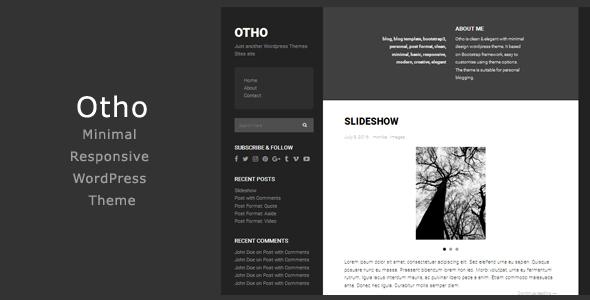 قالب Otho - قالب وردپرس مینیمال
