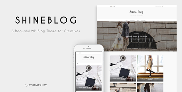 قالب ShineBlog - قالب وبلاگ وردپرس