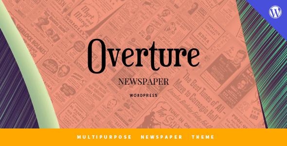 قالب Overture - قالب وردپرس برای سایت مجله خبری