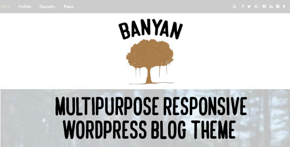 Banyan - قالب چند منظوره وبلاگ برای وردپرس