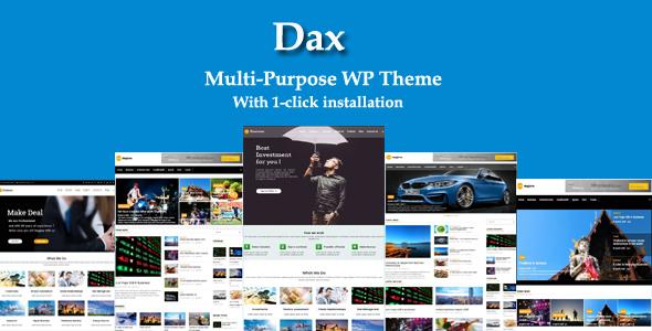 Dax - قالب چند منظوره ریسپانسیو