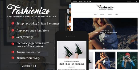 Fashionize - قالب وبلاگ وردپرس ریسپانسیو