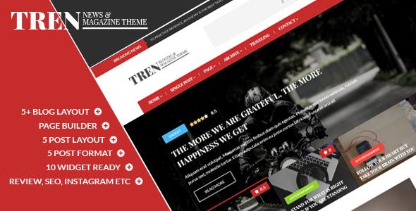Tren - قالب وردپرس وبلاگ و مجله