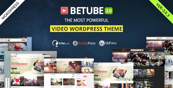 قالب بیوتیوب | Betube - قالب ویدئو وردپرس