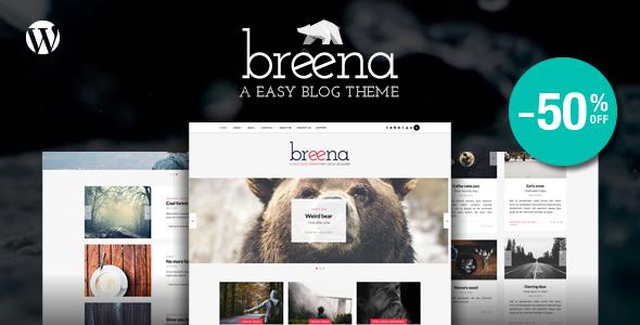 قالب Breena - قالب وبلاگ وردپرس