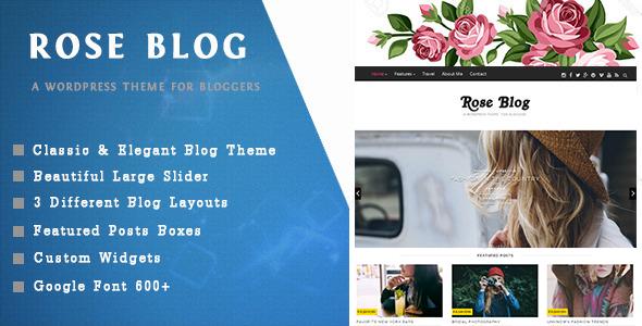 قالب Rose Blog - قالب وبلاگ وردپرس