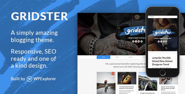 قالب Gridster - قالب وبلاگ وردپرس