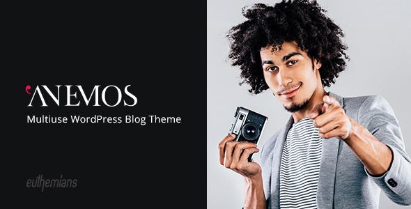 قالب Anemos - قالب وردپرس وبلاگ نویسی چند منظوره