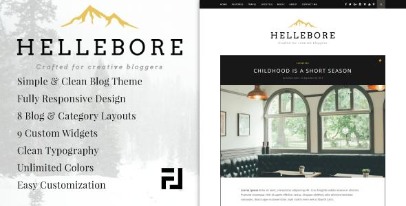 قالب Hellebore - قالب وبلاگ وردپرس
