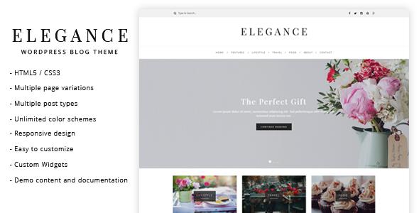 قالب Elegance - قالب وبلاگ وردپرس