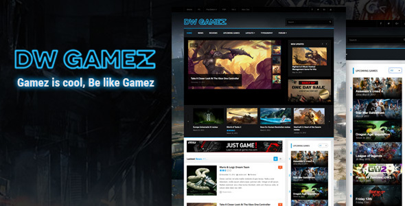 قالب DW Gamez - قالب وردپرس گیم