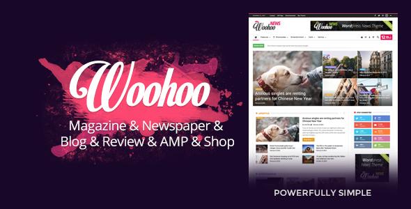 قالب ووهوو | Woohoo - قالب حرفه ای ورپرس مجله خبری