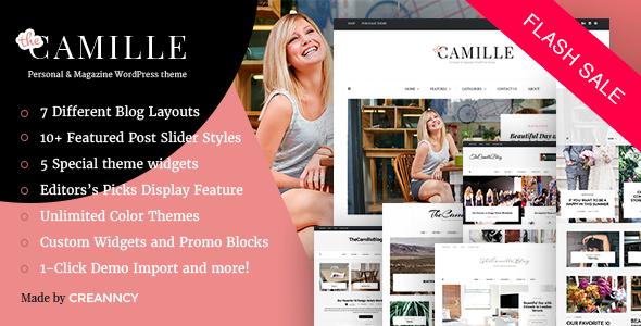 قالب Camille - قالب وردپرس شخصی و مجله