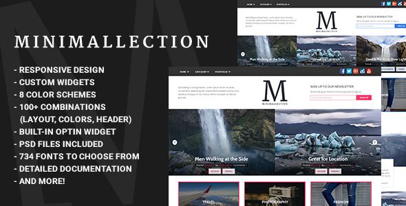 قالب Minimallection - قالب وبلاگی مینیمال وردپرس
