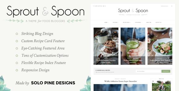 قالب Sprout & Spoon - قالب وردپرس غذا