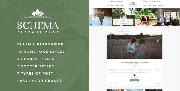 قالب Schema - قالب بلاگی وردپرس زیبا
