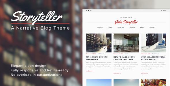 قالب Storyteller - قالب وردپرس وبلاگی