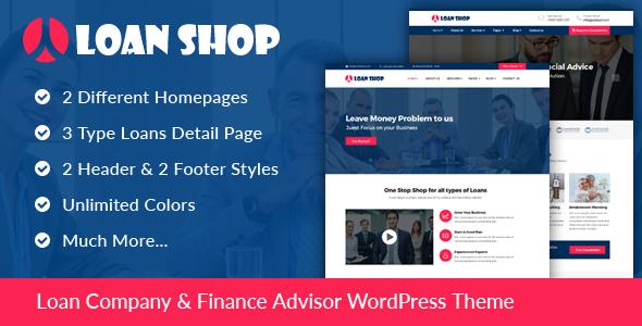 قالب LoanShop - قالب وردپرس شرکت مالی و اعتباری