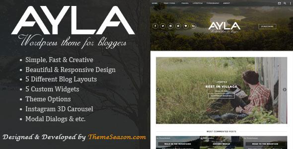 قالب Ayla - قالب وبلاگ وردپرس ریسپانسیو