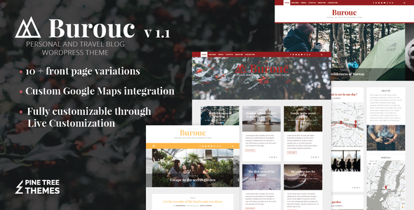 قالب Burouc - قالب وردپرس وبلاگ شخصی و مسافرتی