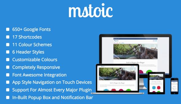 Mstoic - قالب وبلاگ وردپرس