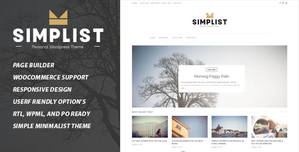 قالب Simplist - قالب وبلاگ وردپرس