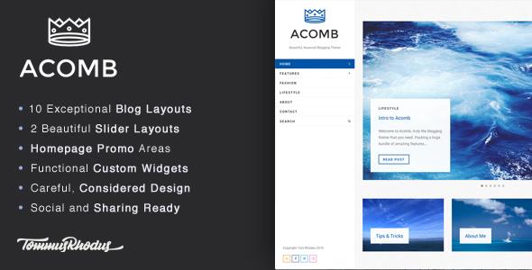 قالب Acomb - قالب وردپرس وبلاگی