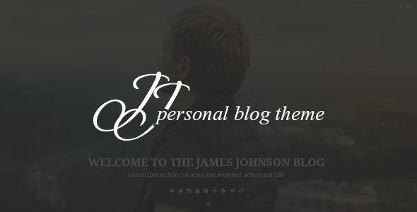 JJ BLOG - قالب وردپرس وبلاگ شخصی