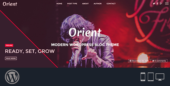 قالب Orient - قالب وبلاگ وردپرس مدرن