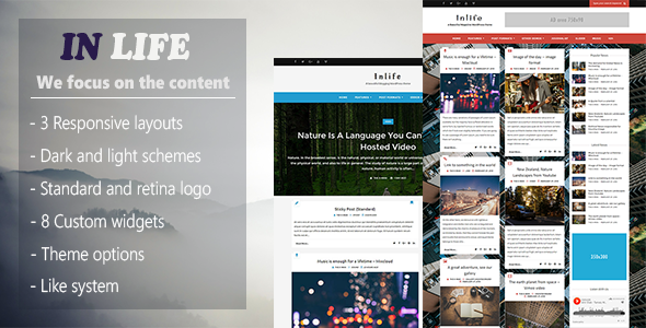 قالب InLife - قالب وردپرس خبری ساده